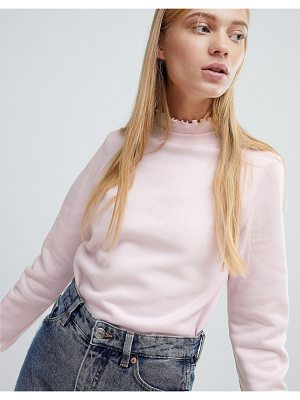 Monki Ruffle Collar Sweatshirt