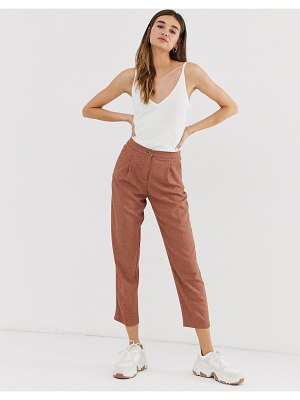 Monki tailored peg pants in rust