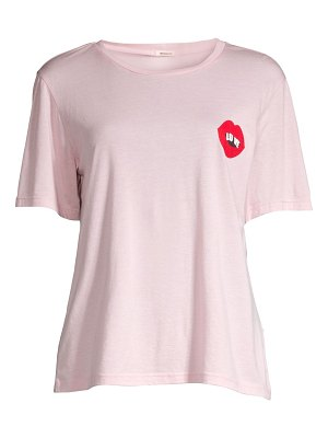 Monrow oversized love lips crew tee