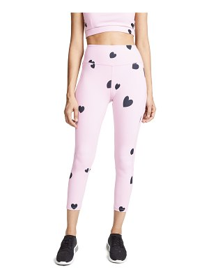 Monrow scattered heart leggings