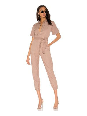 Monrow Short Sleeve Side Zip Detail Jumpsuit