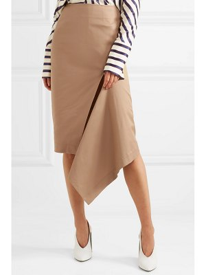Monse asymmetric cotton-blend gabardine skirt
