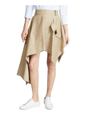 MONSE Asymmetrical Skirt With Pocket