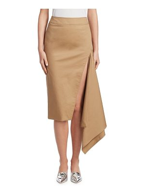 Monse cotton gabardine slash pencil skirt