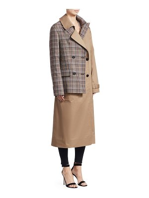 Monse half & half trench coat