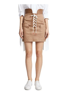 Monse lace up cotton miniskirt