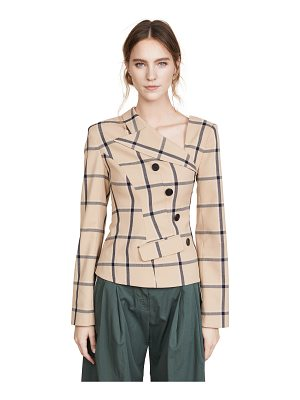 MONSE Louise Plaid Twisted Jacket