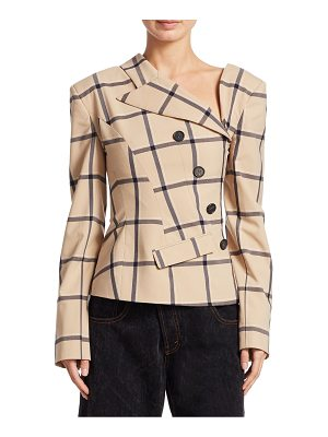 MONSE Lous Plaid Twisted Wool Jacket