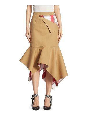 MONSE Plaid Trumpet Skirt