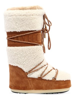 Moon Boot Shearling & suede boot