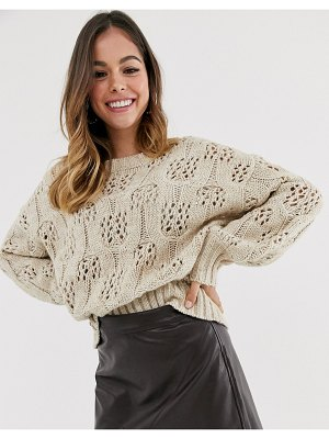 Moon River beige fine knitted sweater