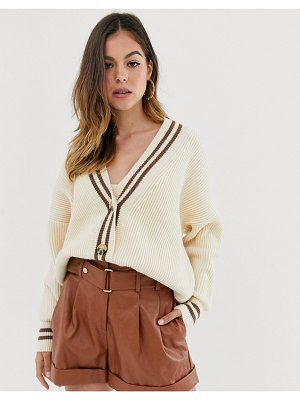 Moon River grandad oversized cardigan