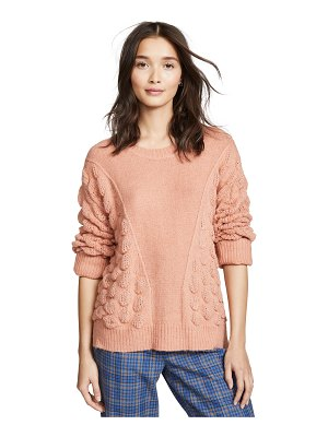 Moon River patterned crew neck sweater