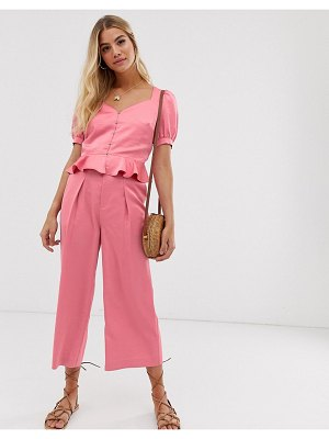 Moon River satin buckle pants