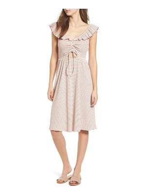 MOON RIVER Stripe Knit Dress