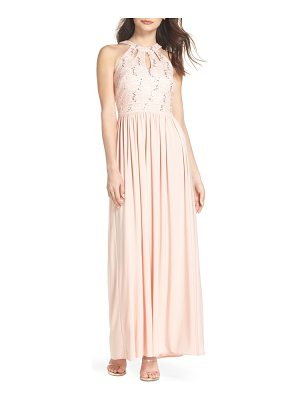 Morgan & Co. lace bodice keyhole gown