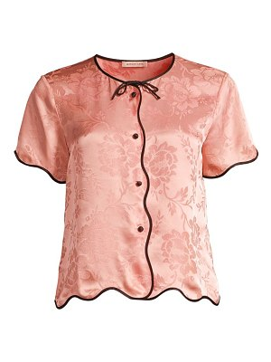 Morgan Lane beatrice silk-blend top