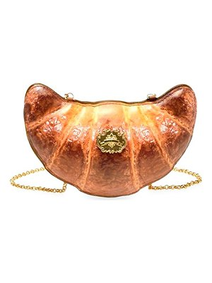 Moschino croissant leather shoulder bag