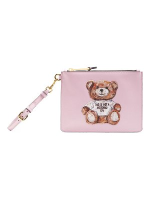 Moschino painted bear clutch