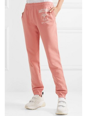 Moschino printed cotton-jersey track pants