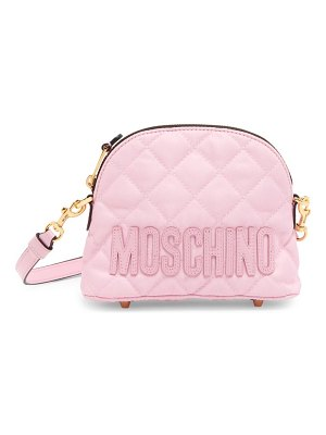 Moschino quilted nylon shoulder bag