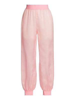 Moschino silk track pants