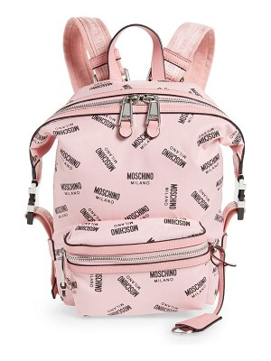 Moschino small logo backpack