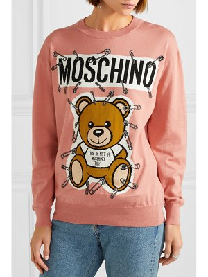 Moschino teddy intarsia cotton sweater