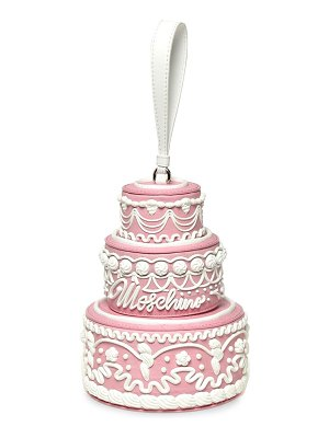 Moschino tiered cake leather shoulder bag