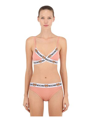 Moschino Underwear Logo trim triangle bra