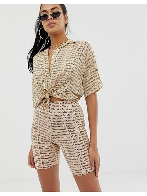 Motel legging shorts in modern romantic repeat printco-ord