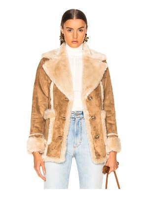 Mother Faux Fur Patch Pocket Trapper