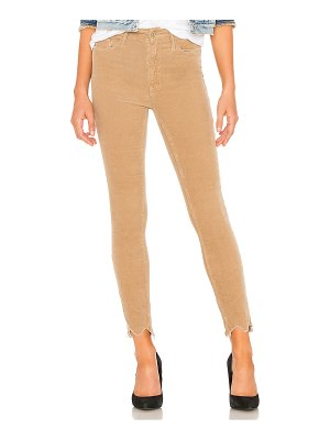Mother high waisted looker ankle chew corduroy