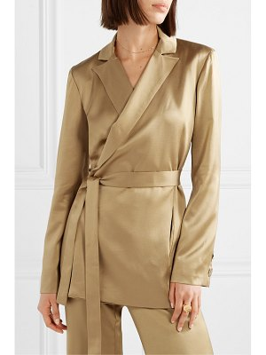 Mother Of Pearl constance satin wrap blazer