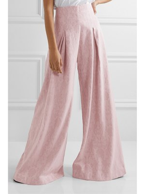 Mother Of Pearl net sustain lola organic cotton and wool-blend jacquard wide-leg pants