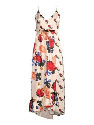 Mother Of Pearl naomi silk mixed floral midi dress
