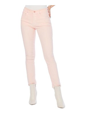 Mother the looker frayed step hem ankle skinny jeans