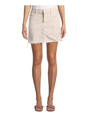 MOTHER Vagabond Mini Fray Denim Skirt