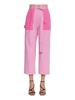 MSGM Cropped straight gabardine pants