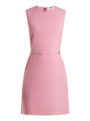 MSGM Crystal-buttoned crepe dress