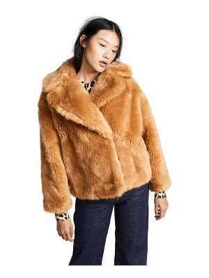 MSGM faux fur short jacket