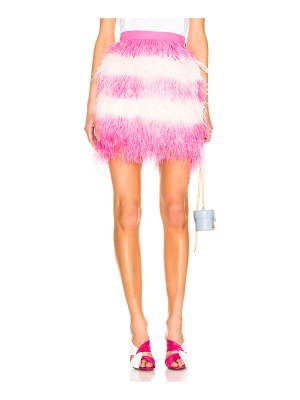MSGM feather skirt