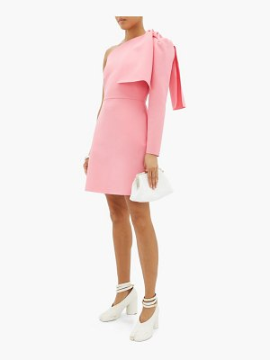 MSGM one-shoulder crepe mini dress