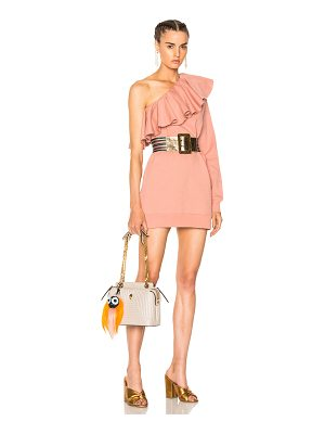 MSGM One Shoulder Ruffle Dress