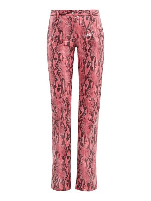MSGM python-effect patent trousers