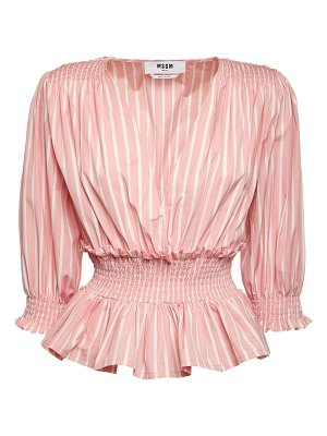 MSGM Ruffled cotton poplin shirt