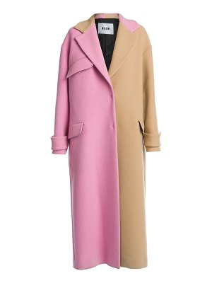 MSGM two-tone wool-blend coat