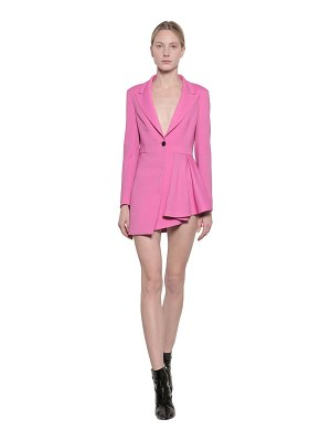 MSGM Viscose blend crepe jacket dress
