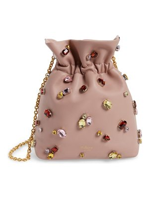 MULBERRY Mini Lynton Embellished Leather Bucket Bag
