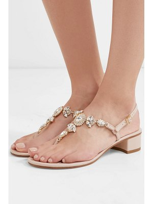 Musa crystal-embellished leather sandals